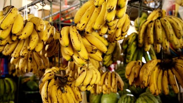 bananas in the fruit market video