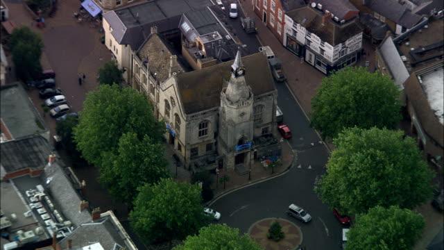Banbury  - Aerial View - England, Oxfordshire, Cherwell District, United Kingdom video