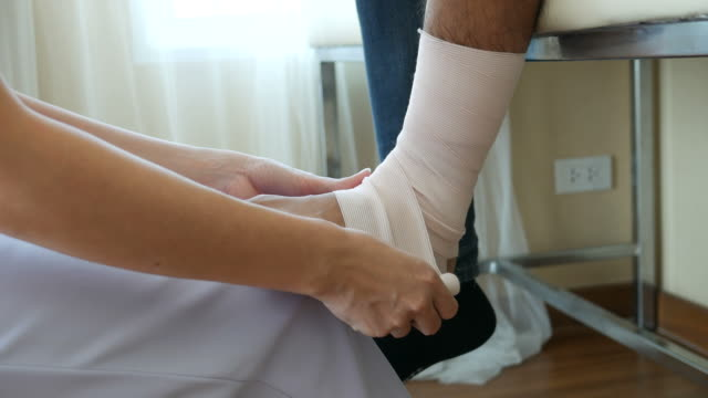 Bandage wrap , medical concept video