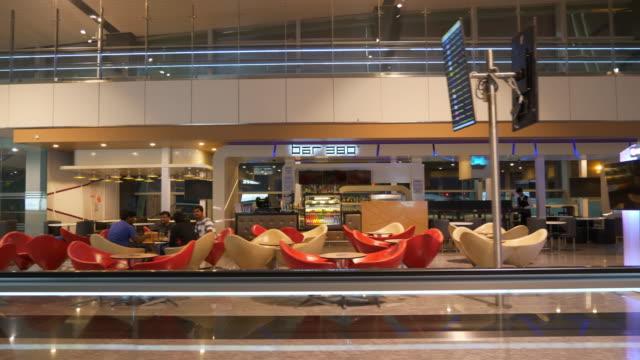 bangalore city airport interior gate lounge zone panorama 4k india