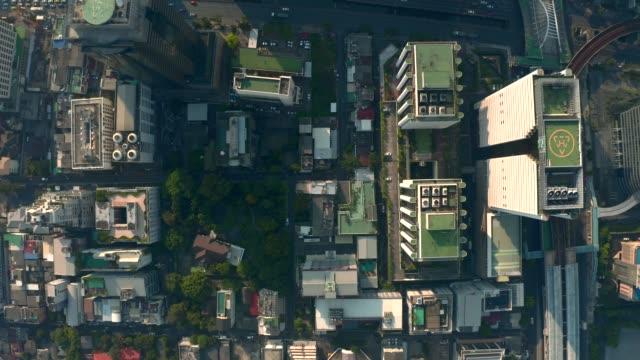 vista aerea di bangkok - in cima video stock e b–roll