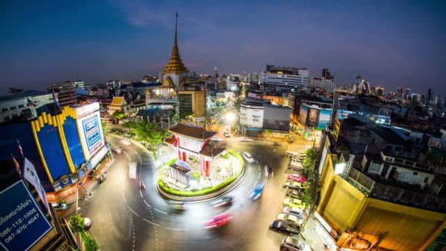 Bangkok Chinatown Gateway time lapse 4K video