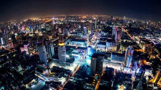 bangkok krajobraz miejski upływ czasu - estakada skrzyżowanie dróg filmów i materiałów b-roll