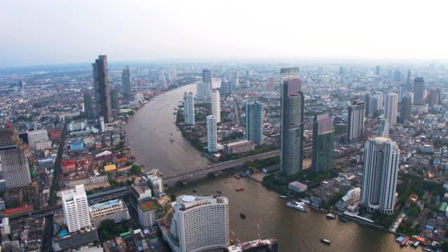 bangkok şehir manzarası - bangkok stok videoları ve detay görüntü çekimi