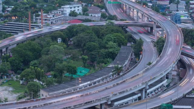 Bangkok highway overpass with modern city