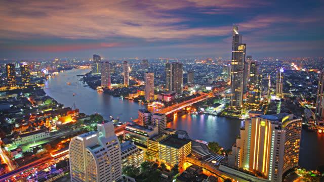 Bangkok. Hour after sunset video
