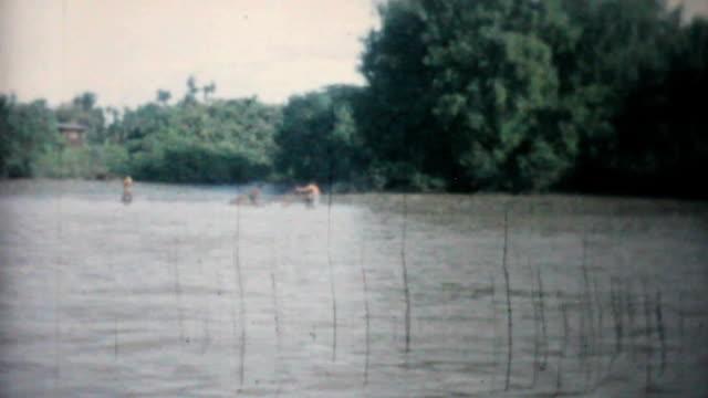 Bangkok River Scenes In Thailand-1958 Vintage 8mm film video