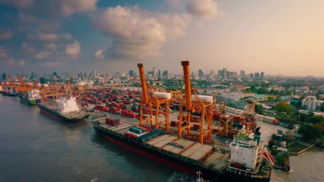 Bangkok Shipyard Terminal ,Aerial video
