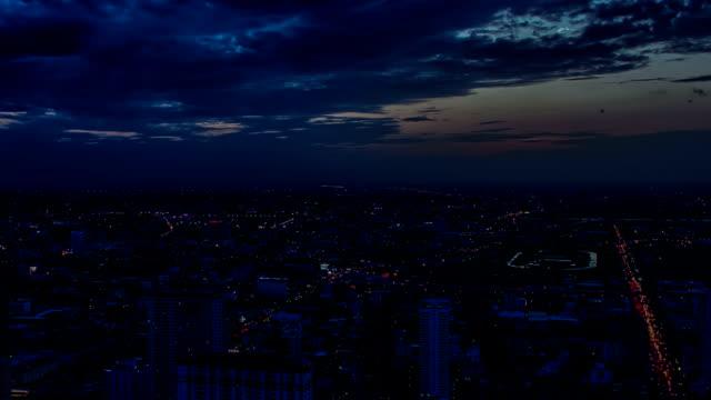 Bangkok Skyline Sunset Timelapse video