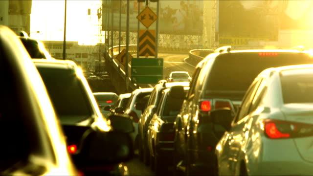 bangkok traffic - queue video stock e b–roll