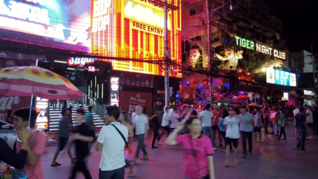 bangla walking street - phuket video stock e b–roll