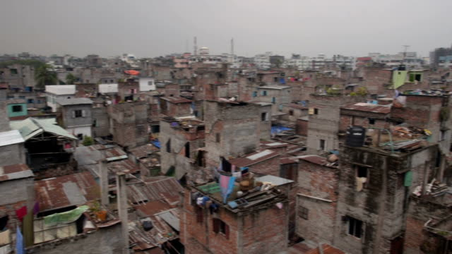 Bangladesh Refugee camp pan across video