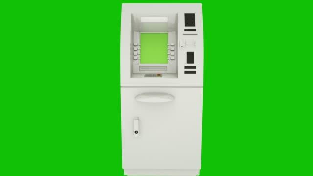 Bank Cash ATM Machine Green Screen Display. Zoom in