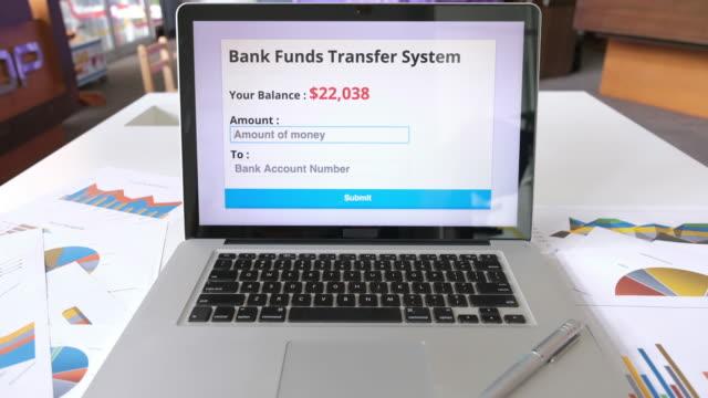 bank funds transfer system - conto corrente video stock e b–roll