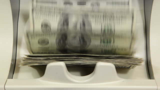 Bank Money Counting Machine with $100 Bills video