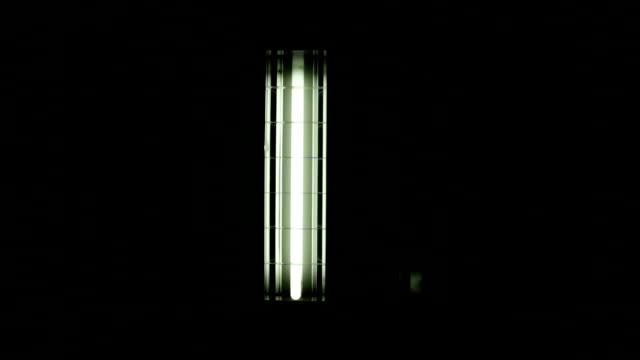 banca di luci fluorescenti in altezza - soffitto video stock e b–roll