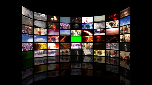 bank of media screens and film clips - {{searchview.contributor.websiteurl}} stock videos & royalty-free footage