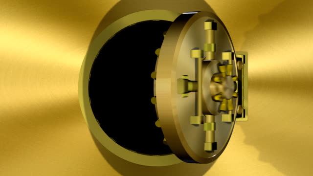 bank vault door gold transition (hd) - safes and vaults stock videos & royalty-free footage
