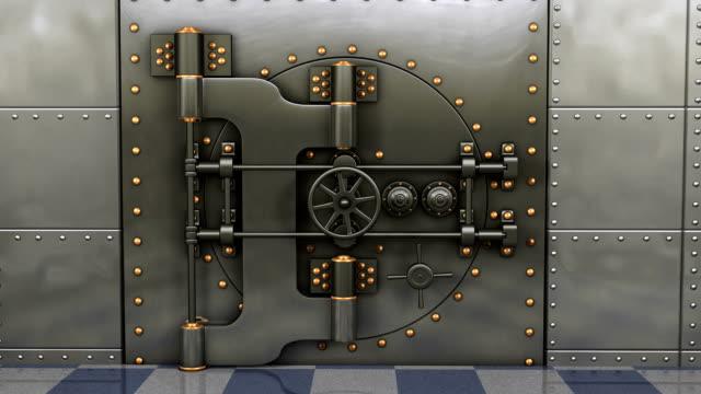 stockvideo's en b-roll-footage met bank vault opening hd video - boog architectonisch element