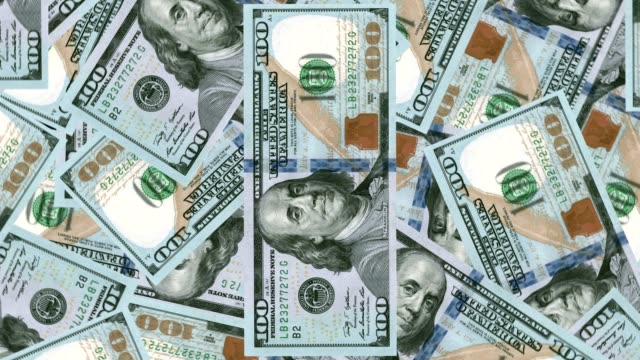 4K Banknote Field 100 usd Print 4K Banknote Field 100 usd Print treasury stock videos & royalty-free footage