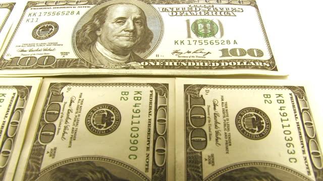 Banknotes in packs. video