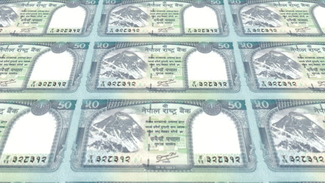 Banknotes of fifty nepalese rupee of Nepal, cash money, loop video