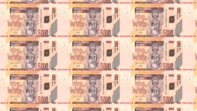 Banknotes of five thousand comorian francs of Comoros, cash money, loop video