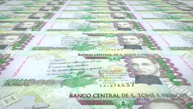 Banknotes of one hundred thousand dobras santotomense of Saint Thomas and Prince video