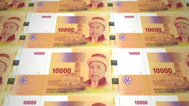 Banknotes of ten thousand congolese francs of the Congo, cash money, loop video
