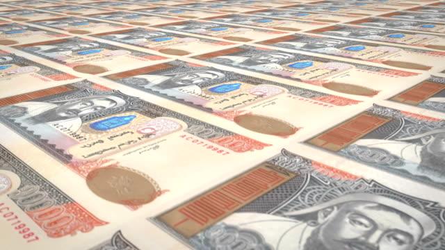 Banknotes of ten thousand mongolian tugrik of Mongolia, cash money, loop video