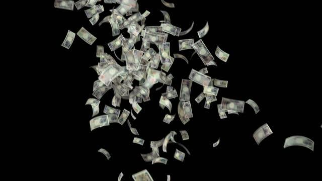 stockvideo's en b-roll-footage met bankbiljetten van de japanse yen, 10000 jpy, 5000 jpy en 2000 jpy gemengd, geanimeerde achtergrond lus, stroom, explosie 4k naadloze lus, chroma key, stock video - yenteken