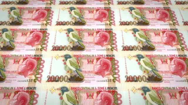 Banknotes of twenty thousand dobras santotomense of Saint Thomas and Prince video