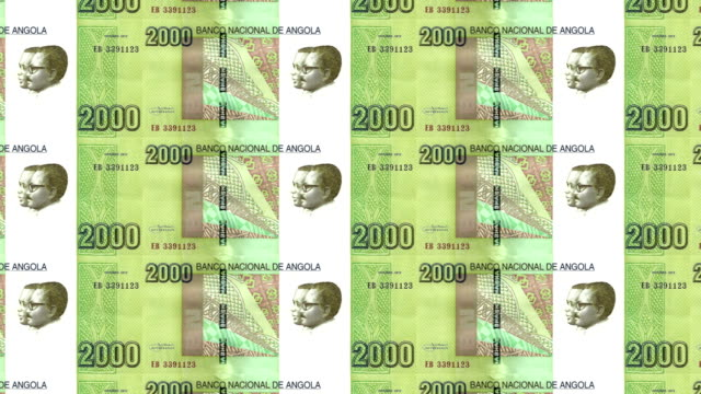 Banknotes of two thousand angolan kwanza of the Republic of Angola, cash money video