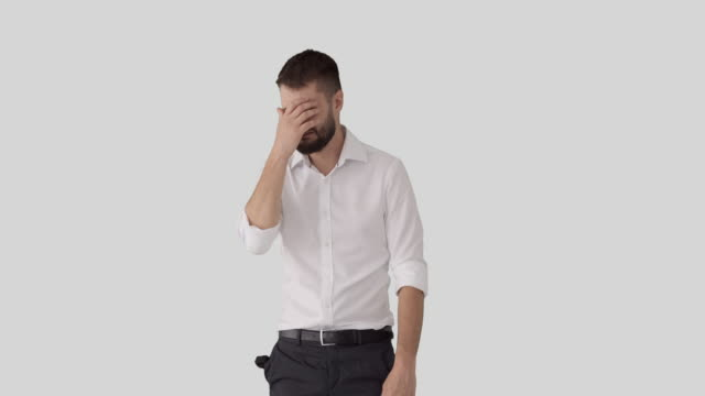Bankrupt businessman coming up with brilliant idea video