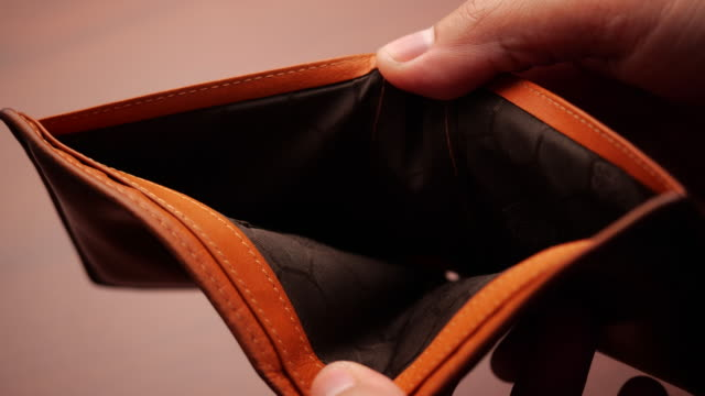 Bankruptcy - Man hand open an empty wallet in slow motion Bankruptcy - Man hand open an empty wallet in slow motion bankruptcy stock videos & royalty-free footage