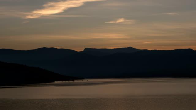 Banks of Lac du Sainte-Croix at dawn summer Provence time lapse