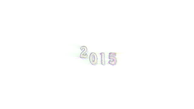 Banner colored pencil writing new year text jump 2015 with sound Banner colored pencil sketchy writing new year text jump 2015 with sound. Animation year 2015 jumps up and down and get closer and closer. Dolly zoom in. homepage stock videos & royalty-free footage