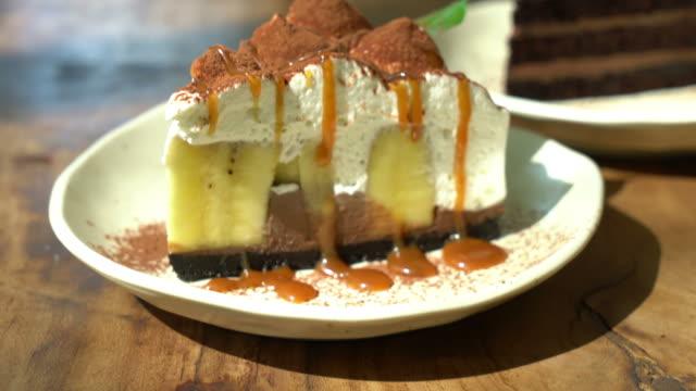Banoffee Cake with caramel