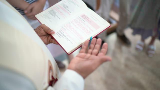 Baptism celebration at church