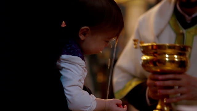 baptism - christening stock videos and b-roll footage