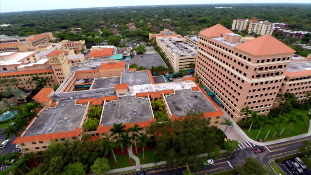 Baptist Hospital Miami aerial video Aerial video footage of Baptist Hospital Miami FL medical building stock videos & royalty-free footage