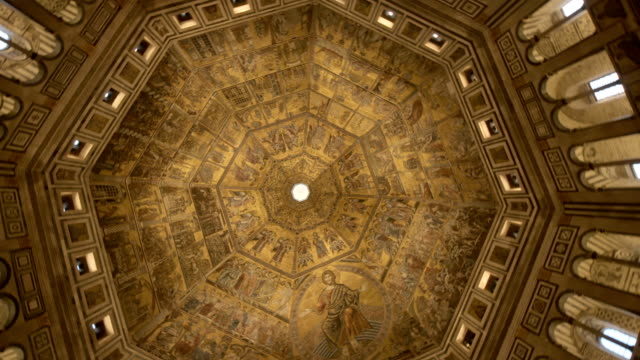 baptistery of san giovanni in florence - italian architecture stock videos & royalty-free footage