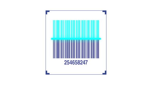 vídeos y material grabado en eventos de stock de escáner de código de barras escaneado de código de producto - eventos de etiqueta