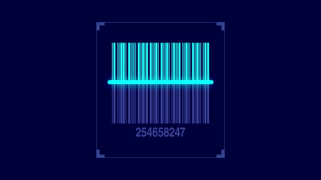 bar code scanner scanning product code - modulo documento video stock e b–roll