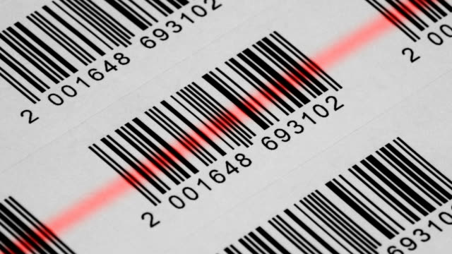 hd-bar code-scanner - strichkodeleser stock-videos und b-roll-filmmaterial