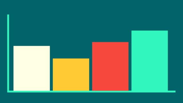 vídeos y material grabado en eventos de stock de gráfico de barras con eje. haga crecer el concepto de negocio de gráficos. animación para tu presentación. - diagrama