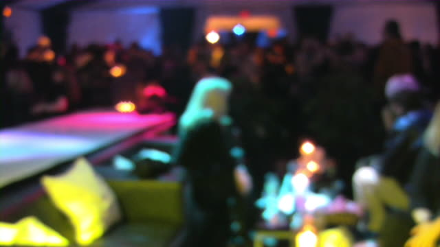 Bar, pub, restaurant, nightclub scene. Large group of people clubbing. video