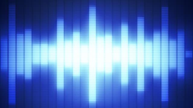 eq バー波形ブルー - 音波点の映像素材/bロール