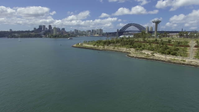 Barangaroo Sydney Harbour Aerial video