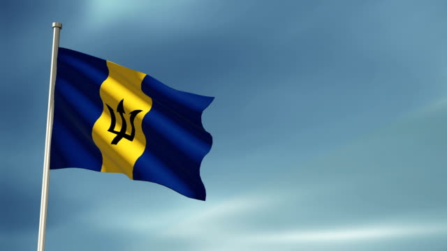 Barbados flag video